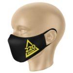 Пример размещения логотипа, на маска для лица